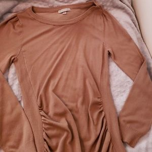 NWOT Long brown sweater